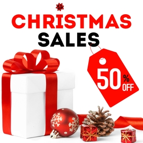 Instagram post christmas sales up to 50 % off