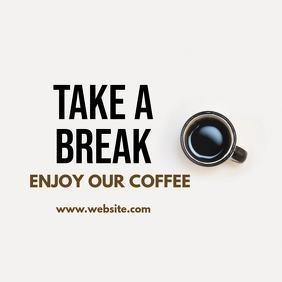 instagram post coffee advertisement Instagram-Beitrag template