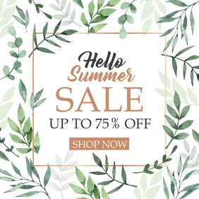 instagram post design template summer sales u Instagram-bericht