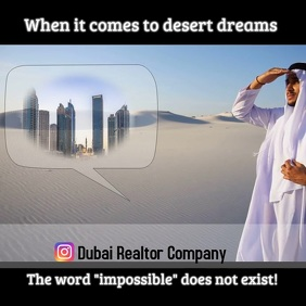 instagram post/Dubai/arabia/realty company