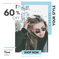 instagram post fashion advertisement template