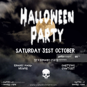 Instagram post Halloweenparty flyer template