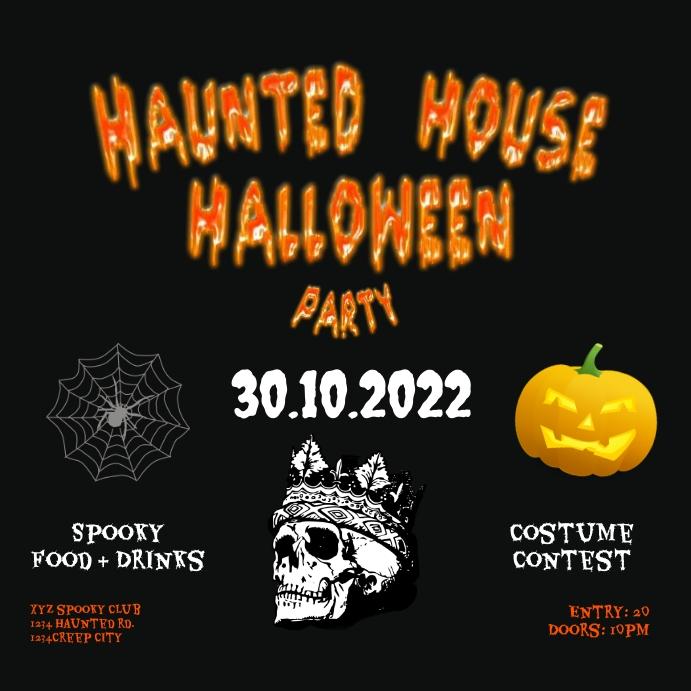 instagram post Haunted House Halloween party