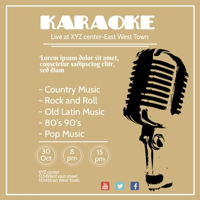 INstagram post Karaoke Flyer template bar clu