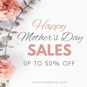 instagram post mother's sales ad template