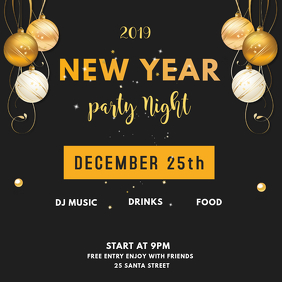 INSTAGRAM POST NEW YEAR PARTY INVITE