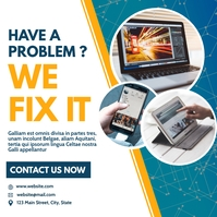 instagram post pc and phone repair services Wpis na Instagrama template