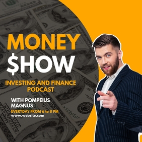 instagram post podcast advertisement money sh template