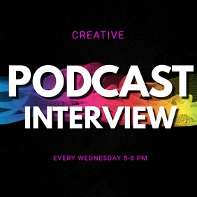 instagram post podcast interview template