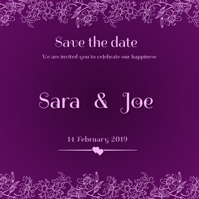 INSTAGRAM POST SAVE THE DATE TEMPLATE