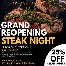 instagram post steak night advertisement template