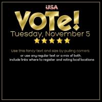 Instagram Post Vote Election Register