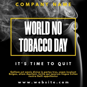 instagram post world no tobacco day template