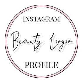 Instagram Profile Photo Logo Feminine template
