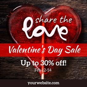 Instagram promo - Valentine's Day Sale template