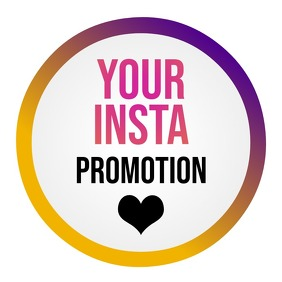 Instagram Promotion Logo Logotipo template
