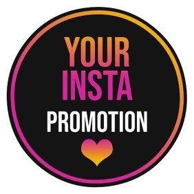 Instagram Promotion Logo template