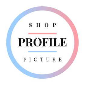 Instagram Shop Profile Logo template