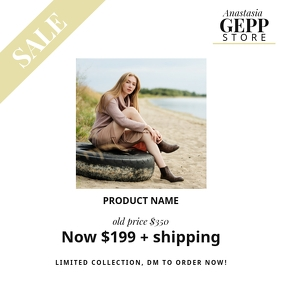 instagram shop store product post template