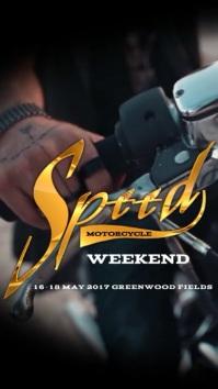 Instagram Speed Motorcycle Weekend Digital Display (9:16) template