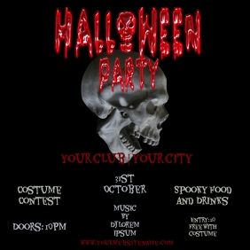 instagram Spooky halloween Party Flyer Templa