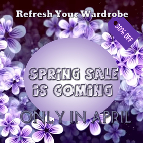 Instagram Spring Sale Event