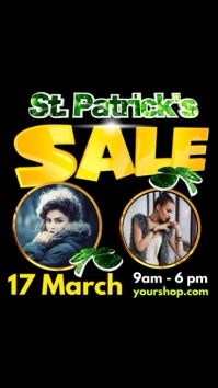 Instagram St. Patricks Day Sale event