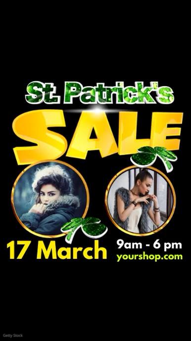 Instagram St. Patricks Day Sale event