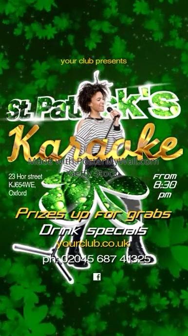 Instagram St. Patricks Karaoke Show Template