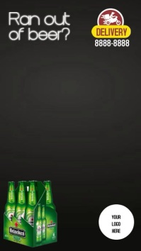 Instagram Stories Beer delivery template