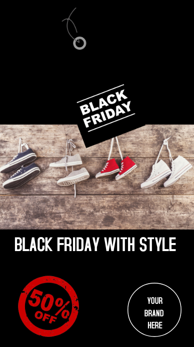 Instagram stories Black Friday shoes Instagram-verhaal template