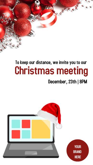 Instagram Stories Christmas meeting Instagram-verhaal template