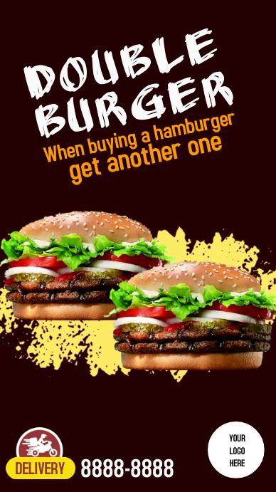 Instagram Stories Double burger Instagram-verhaal template