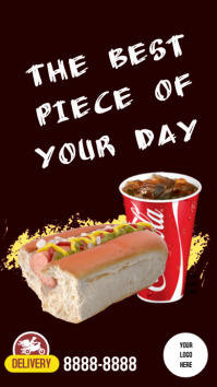 Instagram Stories Hot dog template
