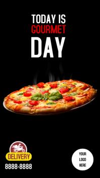 Instagram stories Pizza template
