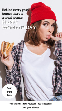 Instagram stories WOMAN'S DAY + BURGER Instagram-Story template