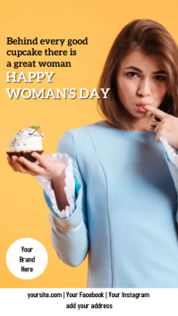 Instagram Stories WOMAN'S DAY + CUPCAKE Instagram-Story template