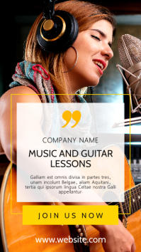 instagram story advertisement music lessons template