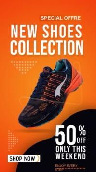 Instagram Story Banner Sale Shoe Offre Instagram-verhaal template
