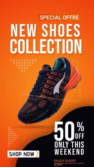 Instagram Story Banner Sale Shoe Offre