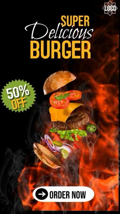 Instagram story burger template