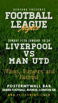 Instagram Story Football Soccer Match Flyer template