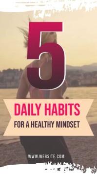 INSTAGRAM STORY- HEALTH HABITS Instagram-verhaal template