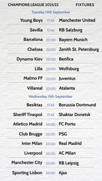 Instagram Story Soccer Football Fixtures template