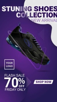 Instagram Story Super Sale Shoes Collection template
