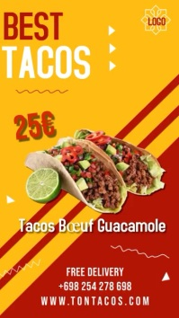 Instagram story tacos template