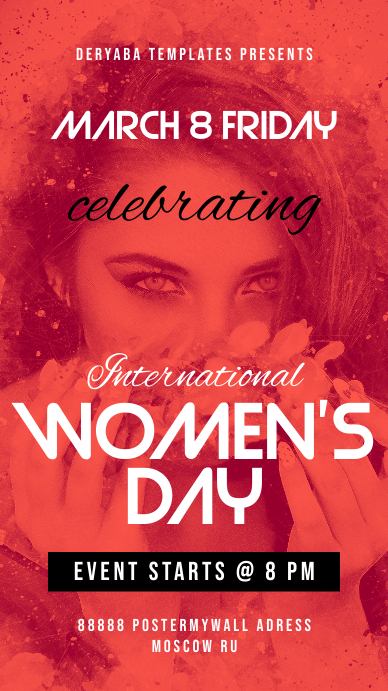 Instagram Story Template Event Women's Day