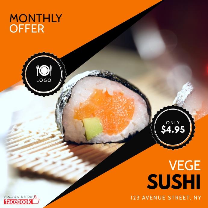 Instagram Sushi Offer Design Template Instagram-opslag