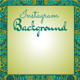 Instagram Teal Paisley Background