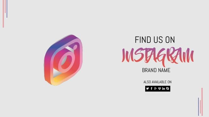 Instagram Template Design YouTube-miniature